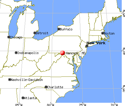 Hancock, Maryland map