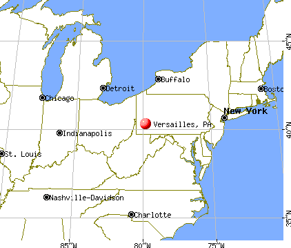 Versailles, Pennsylvania map