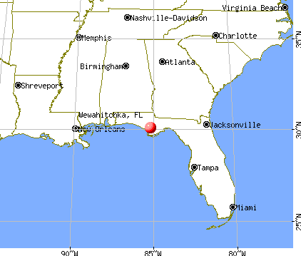 Wewahitchka, Florida map
