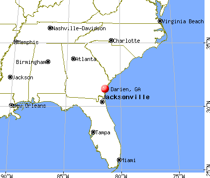 Darien, Georgia map