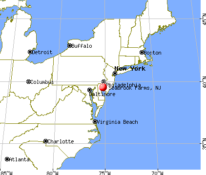 Seabrook Farms, New Jersey map