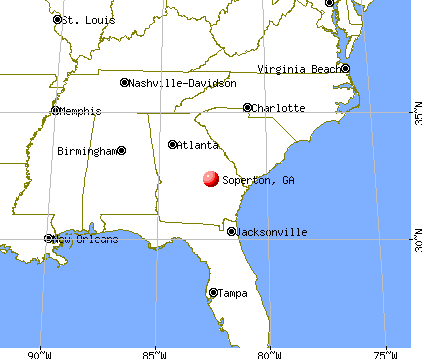 Soperton, Georgia map