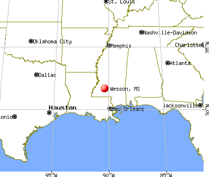 Wesson, Mississippi map