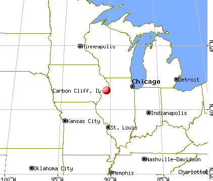 Carbon Cliff, Illinois map