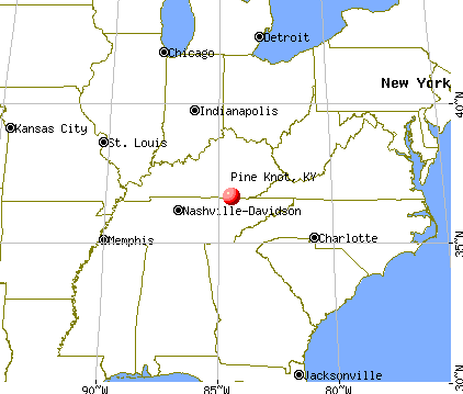 Pine Knot, Kentucky map