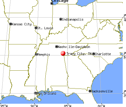 Tracy City, Tennessee map