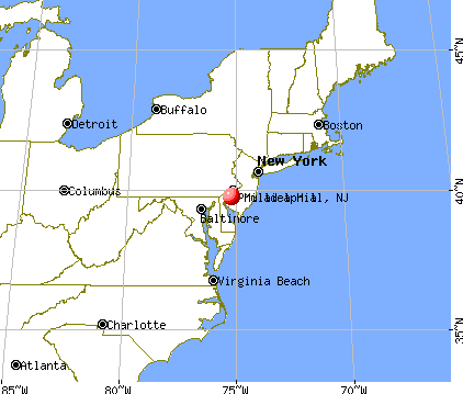 Mullica Hill, New Jersey map