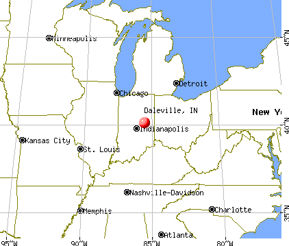 Daleville, Indiana map