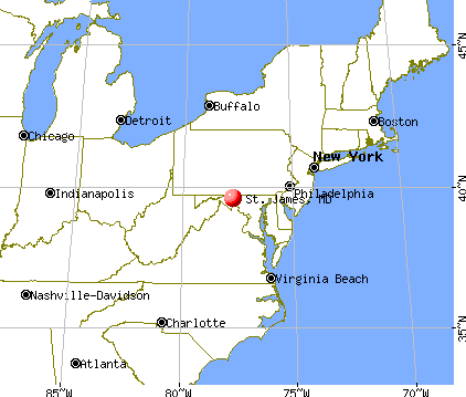 St. James, Maryland map
