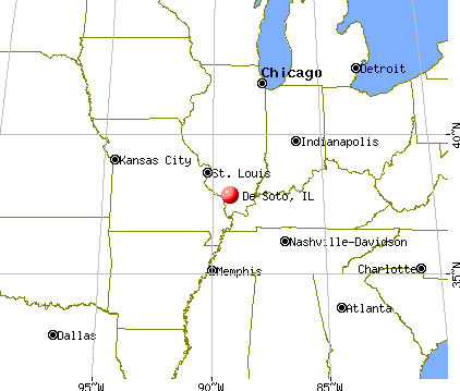 De Soto, Illinois map