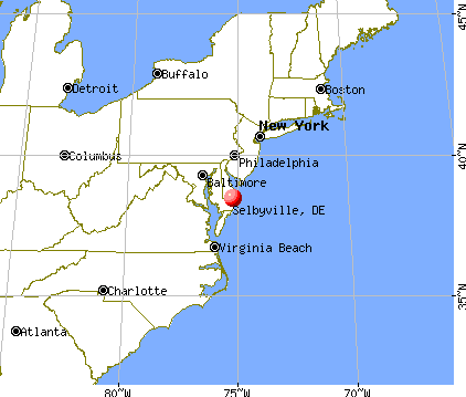 Selbyville, Delaware map