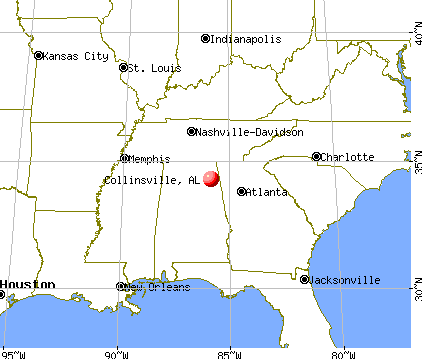 Collinsville, Alabama map