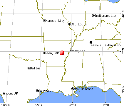 Hazen, Arkansas map