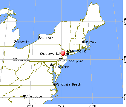 Chester, New Jersey map