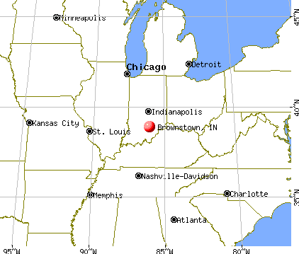 Brownstown, Indiana map