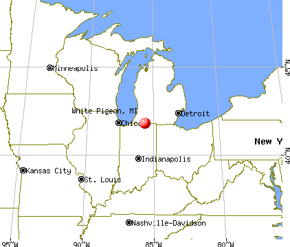 White Pigeon, Michigan map