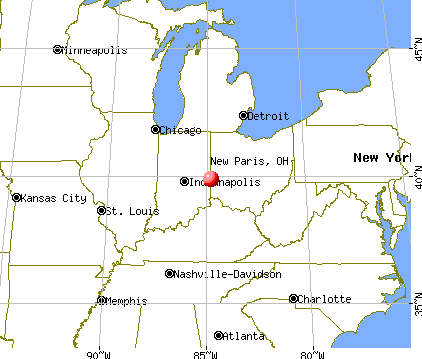 New Paris, Ohio map
