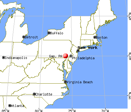Gap, Pennsylvania map