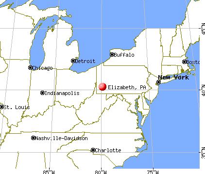 Elizabeth, Pennsylvania map