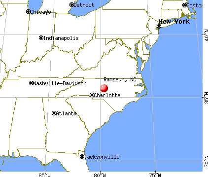 Ramseur, North Carolina map