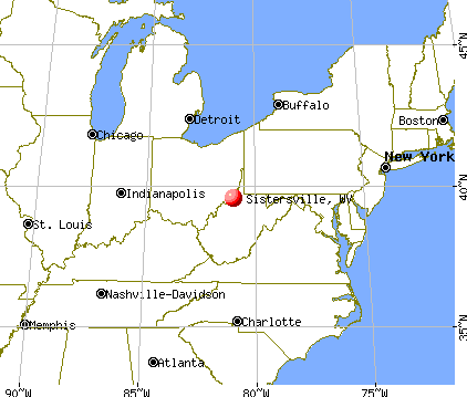 Sistersville, West Virginia map
