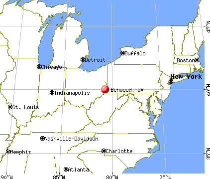 Benwood, West Virginia map