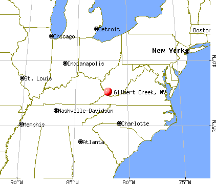 Gilbert Creek, West Virginia map