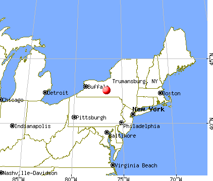 Trumansburg, New York map
