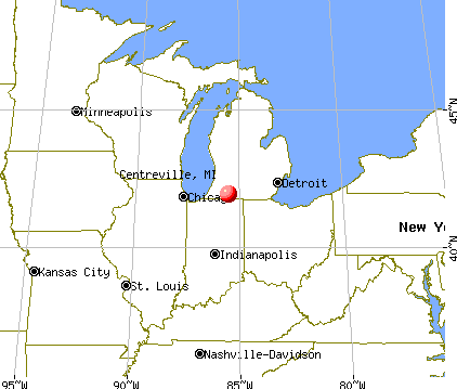 Centreville, Michigan map