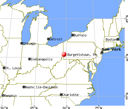 Burgettstown, Pennsylvania map
