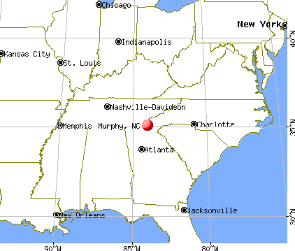 Murphy, North Carolina map
