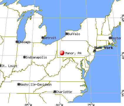 Manor, Pennsylvania map