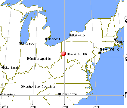 Oakdale, Pennsylvania map