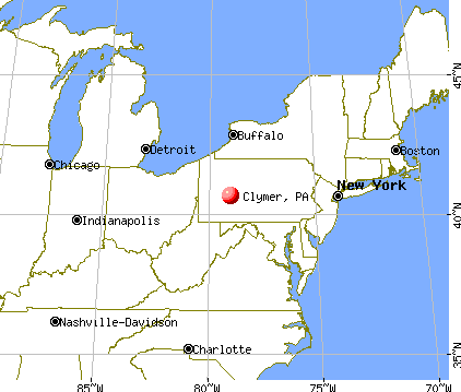 Clymer, Pennsylvania map