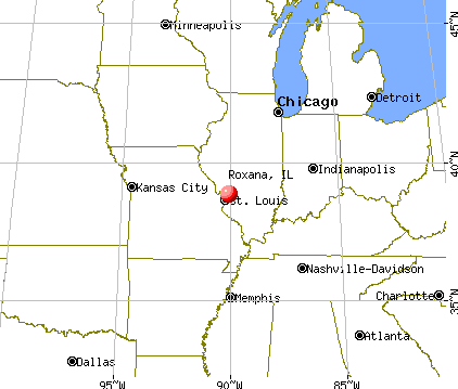 Roxana, Illinois map