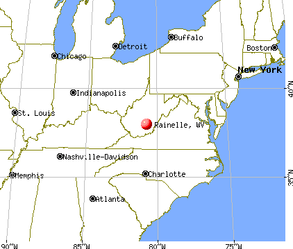 Rainelle, West Virginia map