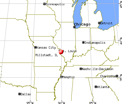 Millstadt, Illinois map
