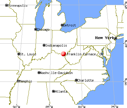 Franklin Furnace, Ohio map