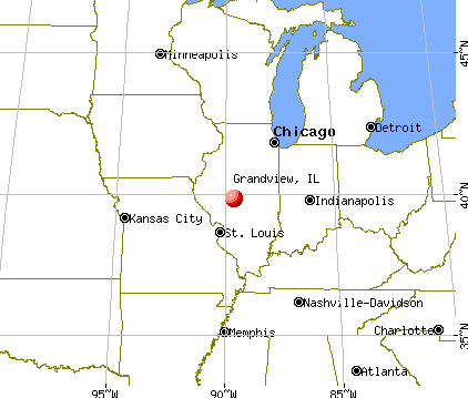 Grandview, Illinois map