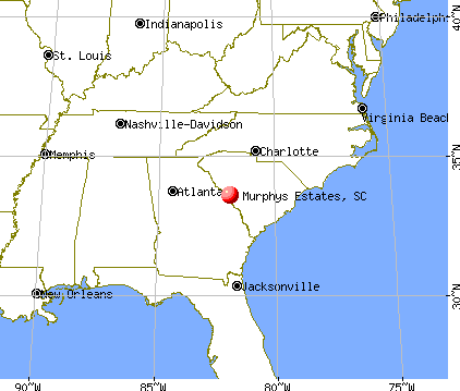 Murphys Estates, South Carolina map