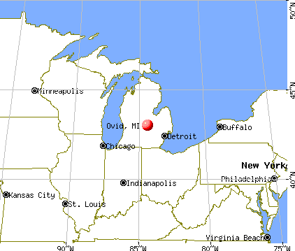 Ovid, Michigan map