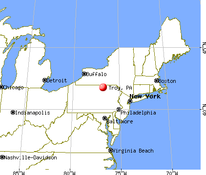 Troy, Pennsylvania map