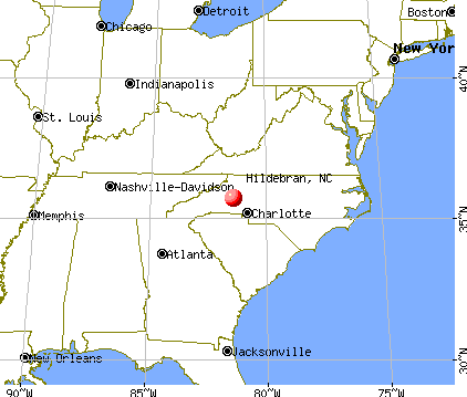 Hildebran, North Carolina map