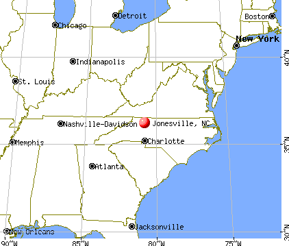 Jonesville, North Carolina map