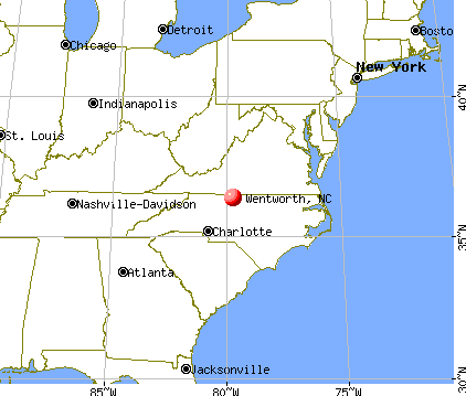 Wentworth, North Carolina map