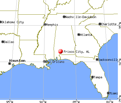 Frisco City, Alabama map