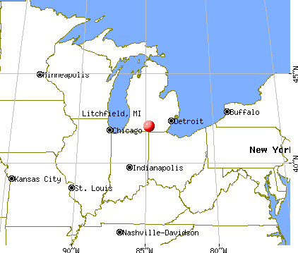 Litchfield, Michigan map