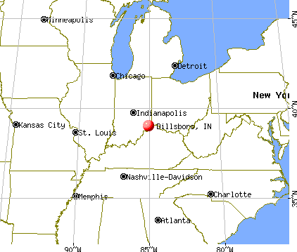 Dillsboro, Indiana map