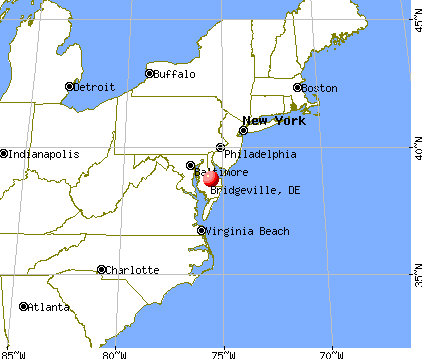 Bridgeville, Delaware map