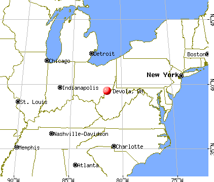 Devola, Ohio map